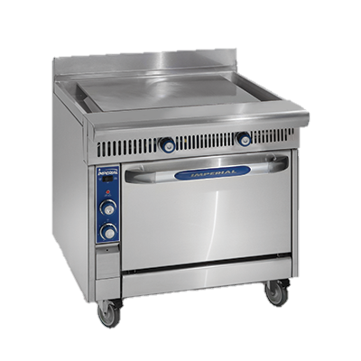 "superior-equipment-supply - Imperial - Imperial Stainless Steel Plancha Top Modular 36"" Wide Heavy Duty Gas Range"
