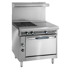 "superior-equipment-supply - Imperial - Imperial Stainless Steel Four Burner Hot Top 36"" Wide Heavy Duty Gas Range"