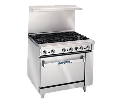 "superior-equipment-supply - Imperial - Imperial Stainless Steel Four Round Elements Thermostatic Griddle Open Cabinet 36"" Wide Electric Restaurant Range"