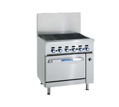 "superior-equipment-supply - Imperial - Imperial Stainless Steel Cast Iron Radiants Open Cabinet 36"" Wide Gas Restaurant Range"