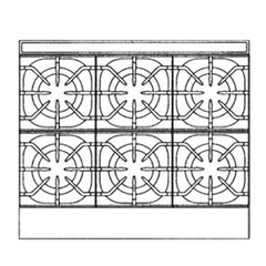 "superior-equipment-supply - Imperial - Imperial Stainless Steel Six Burner 36"" Wide Restaurant Series Sizzle 'N Chill Gas Range"