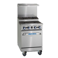 "superior-equipment-supply - Imperial - Imperial Stainless Steel Eight Open & Step Up Open Burners Open Cabinet 48"" Wide Gas Range"