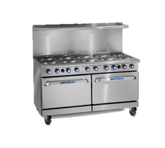 "superior-equipment-supply - Imperial - Imperial Stainless Steel Six Round Elements Griddle Open Cabinet 60"" Wide Electric Range"
