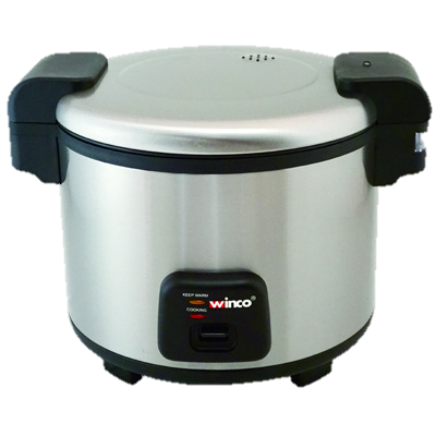 Winco Stainless Steel Electric Rice Cooker 30 Cup Uncooked Rice Capacity