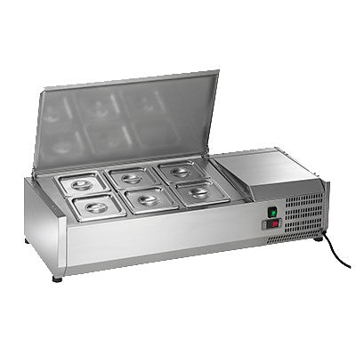 Arctic Air Refrigerated Countertop Prep Unit, Pan Rail, 11(h) x 39.5(w) x 15.5(d), Stainless Steel