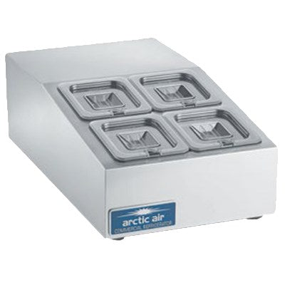 Arctic Air Compact Refrigerated Countertop Prep Unit, 9.13(h) x 15(w) x 25.75(d), Stainless Steel