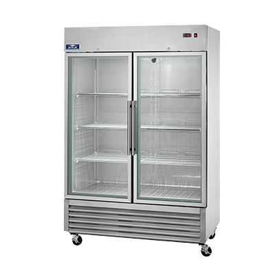 "Arctic Air Reach-In Refrigerator Two-Section 54""W 49.0 cu. ft. Stainless Steel"