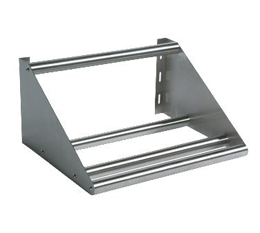 "BK Resources Tubular Dish Shelf Wall Mount, 63""W. Stainless Steel"