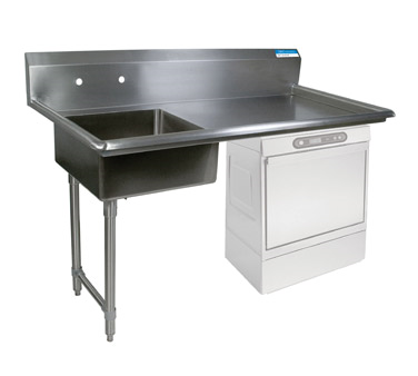 "superior-equipment-supply - BK Resources - BK Resources Soiled Dishtable Undercounter 50""W x 30""D x 46""H, Stainless Steel"