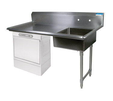 "superior-equipment-supply - BK Resources - BK Resources Soiled Dishtable Undercounter, 50""W x 30""D x 46""H, Stainless Steel"