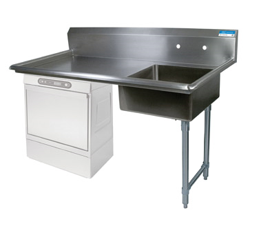 "superior-equipment-supply - BK Resources - BK Resources Soiled Dishtable Undercounter, 60""W x 30""D x 46""H, Stainless Steel"