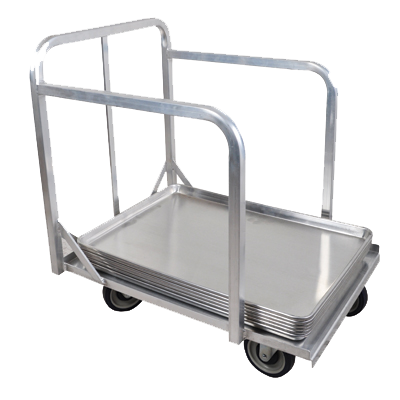 "BK Resources Welded Aluminum Bun Pan Dolly Truck 28"" Wide"