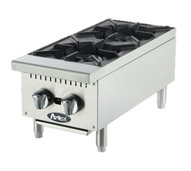 superior-equipment-supply - Atosa Catering Equipment - Atosa Stainless Steel 12' Wide Heavy Duty Countertop Gas Hotplate