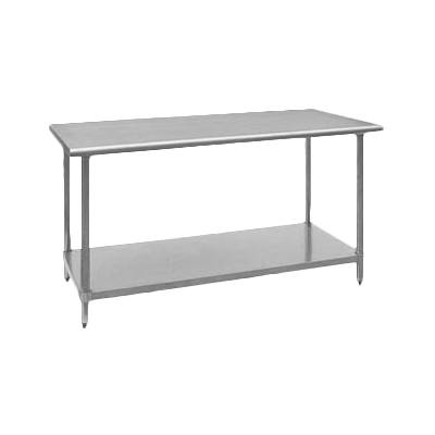 "Royal Industries Stainless Steel Work Table With Galvanized Shelf  96""W x 30""D"