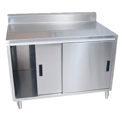 "superior-equipment-supply - BK Resources - BK Resources Stainless Steel 72""W X 30""D Cabinet Base Work Table With Sliding Doors"
