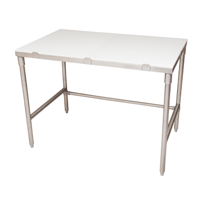 "superior-equipment-supply - BK Resources - BK Resources 72""W x 30""D Work Table With 18/304 Stainless Steel Frame and Removable Poly Top"