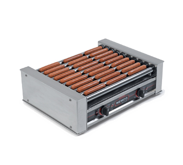 superior-equipment-supply - Nemco Inc - Nemco Inc, Roll-A-Grill Hot Dog Grill, 10 Chrome Rollers, 27 Hot Dog Capacity, Aluminum And Stainless Steel Construction