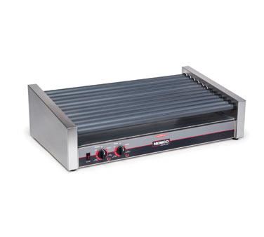 superior-equipment-supply - Nemco Inc - Nemco Roll-A-Grill Hot Dog Grill With 12 Gripslt Coated Rollers and 55 Hot Dog Capacity