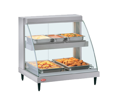 superior-equipment-supply - Hatco Corporation - Hatco Glo-Ray Designer Counter Top Heated Display Case With Tempered Curved Glass