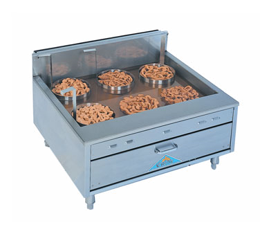 Comstock-Castle Flat Bottom Funnelcake-Doughnut Gas Counter Top Fryer 27-36 lb. Fat Capacity