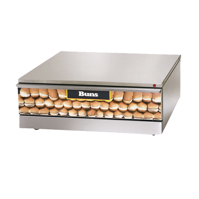 Star Grill-Max® Hot Dog Bun Warmer Capacity 48 Buns Stainless Steel