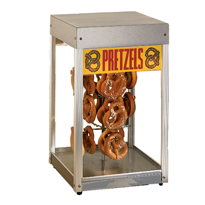 "superior-equipment-supply - Star Manufacturimg - Star Stainless Steel Top & Bottom Pretzel Display Merchandiser 15"" Wide 36 Pretzel Capacity"