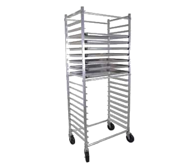 "BK Resources Full Height Bun Pan Rack Side Load Square Top 20-1/4"" Wide"