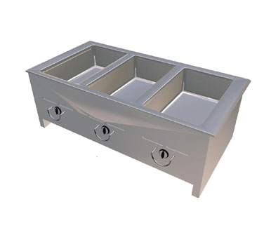 "Duke Food Well 46.25""W x 15.75""H x 23.57""D Stainless Steel Top Steel Exterior With Operators Rails"
