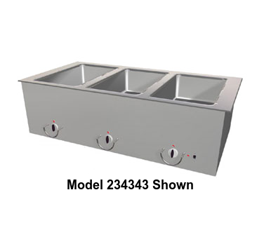 "Duke Food Well 74.25""W x 23.57""D x 12.75""H Stainless Steel Top Steel Exterior With Operator's Rail"