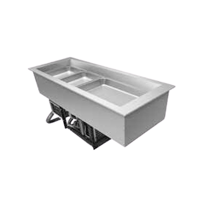 "Hatco Drop-In Refrigerated Slim Well Top Mount Insulated 48.13""W Aluminized Steel Housing"