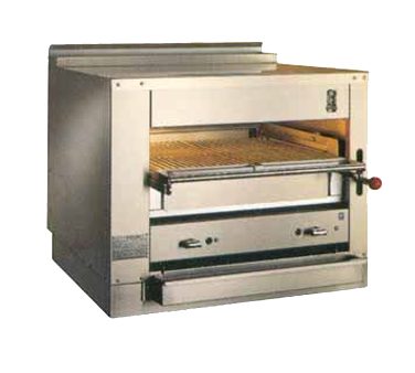 "Montague Stainless Steel Infrared Deck Adjustable Gas Broiler 36"" Wide with Black Sides and Top"
