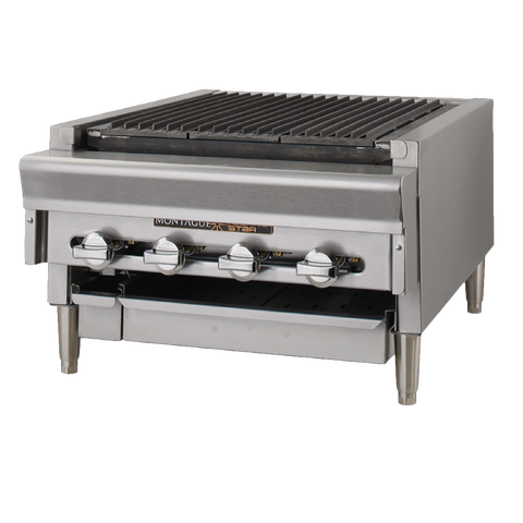 Montague Stainless Steel Front/Sides/Top Radiants Countertop Charcoal Broiler 18""