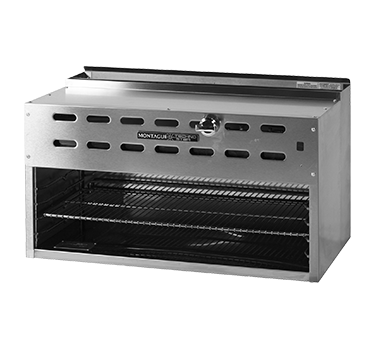 "Montague Stainless Steel Infrared Rapid Start Burners Range Mount Cheesemelter 36"" Wide"