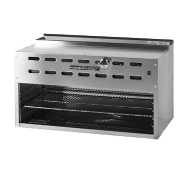 "Montague Stainless Steel Heavy Duty Range Mount Infrared Rapid Start Burners Cheesemelter 36"" Wide"
