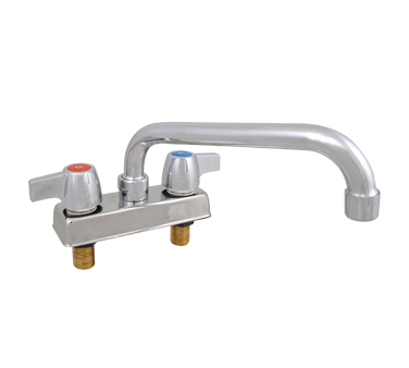 "superior-equipment-supply - BK Resources - BK Resources Workforce Standard Duty Deck Mount Faucet 12"" Swing Spout"