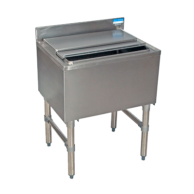 "superior-equipment-supply - BK Resources - BK Resources Stainless Steel 24"" Wide 80 lb. Capacity Underbar Ice Bin"