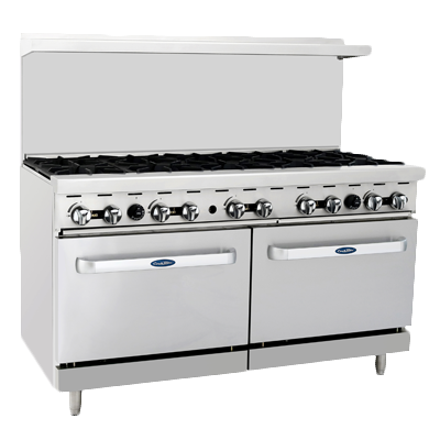 "Atosa 60"" Wide Ten Burners Stainless Steel Gas Range"
