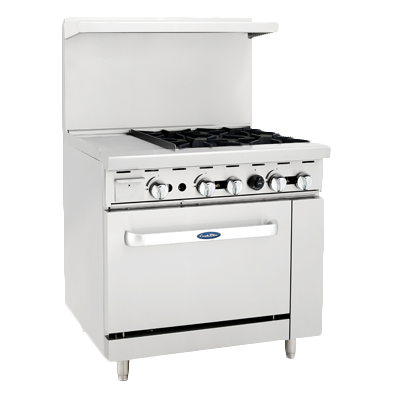 "superior-equipment-supply - Atosa Catering Equipment - Atosa 36"" Wide Four Burners Gas Range With Griddle"