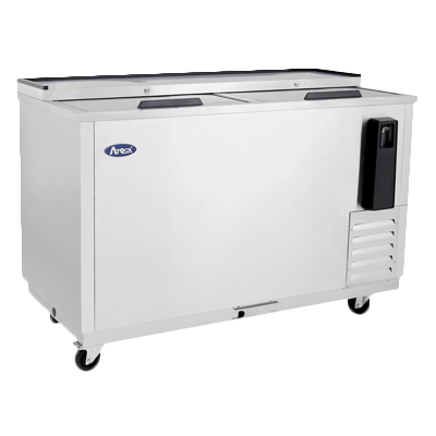 "superior-equipment-supply - Atosa Catering Equipment - Atosa Stainless Steel 49"" Wide Bottle Cooler With Two Sliding Lids"