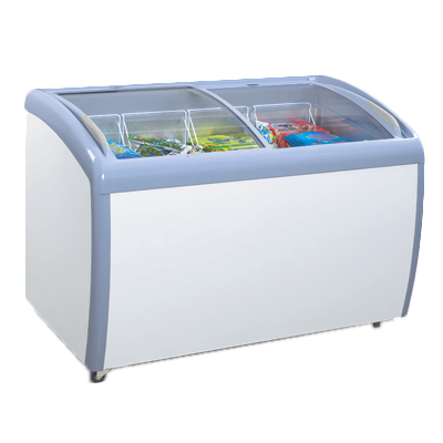 "superior-equipment-supply - Atosa Catering Equipment - Atosa White Coated Steel Exterior 50"" Wide Chest Freezer With Curved Top"