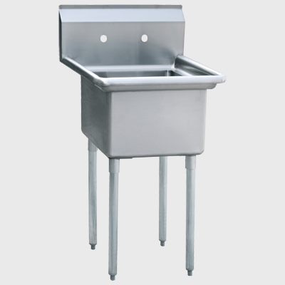 "Atosa Stainless Steel 24"" Wide One Compartment Sink"