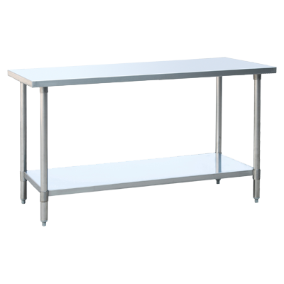 "Atosa Stainless Steel 30""W x 48""D Work Table"