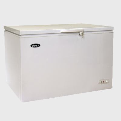 "Atosa Chest Freezer White Coated Steel Exterior 60.2"" Wide Solid Top"