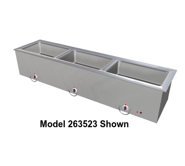 "Duke Slimline Food Well 24-1/4""W x 17.25""D x 12.75""H Stainless Steel Top Steel Exterior With Operator's Rail"