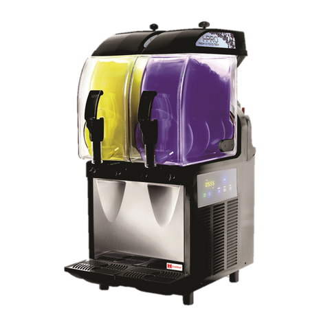 Grindmaster Cecilware Frozen Drink Machine Non-Carbonated Two 2.9 Gallon Insulated Bowls With Light Panel