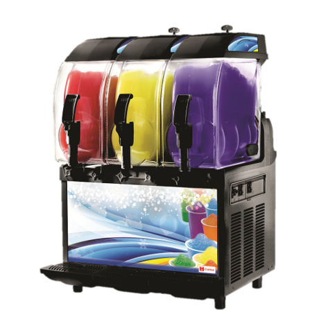 Grindmaster Cecilware Frozen Drink Machine Non-Carbonated Three 2.9 Gallon Insulated Bowls With Light Panel