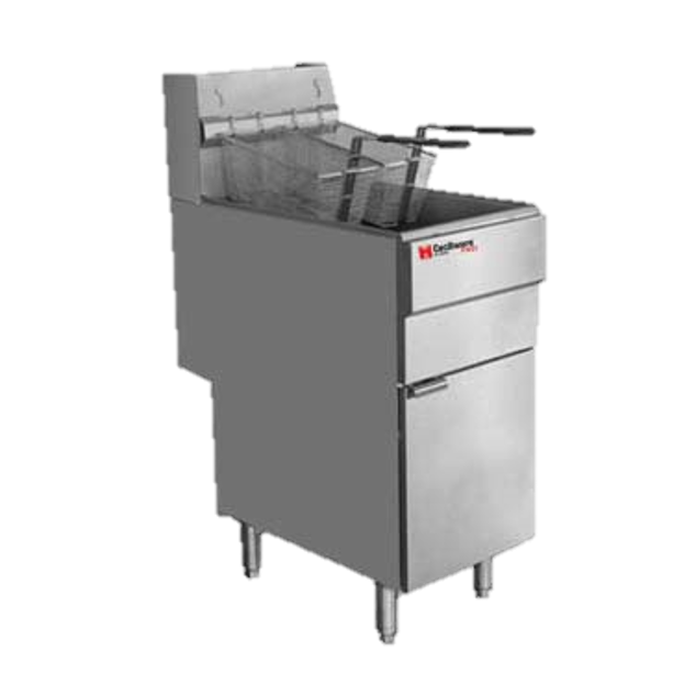 Grindmaster Cecilware Stainless Steel 40 lb. Fat Capacity Propane Floor Fryer