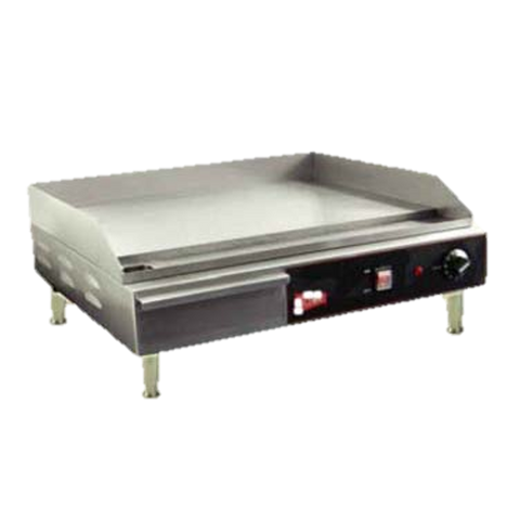 "Grindmaster Cecilware Electric Griddle Countertop 24"" Wide Stainless Steel"