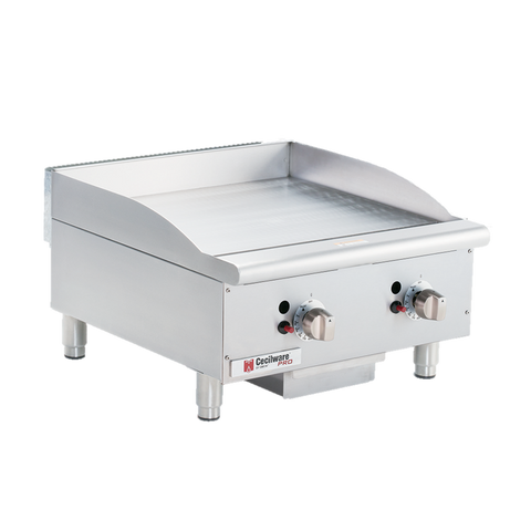 "Grindmaster Cecilware Gas Griddle Countertop 15"" Wide Stainless Steel Thermostatic Controls"