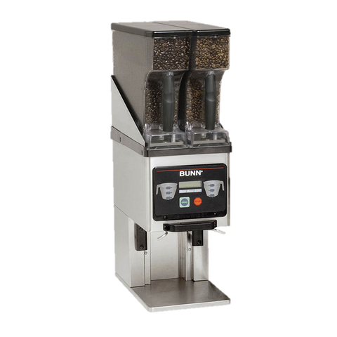 BUNN Coffee Grinder Dual 6 lbs. Removable Hopper Stainless Steel
